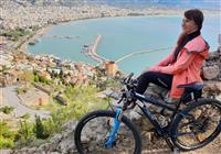 Bicyklom krásami tureckej Alanye